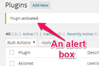 An alert box